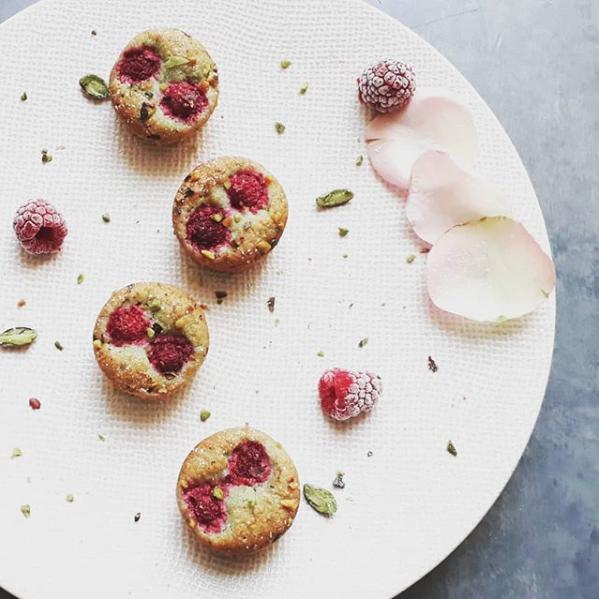 Muffins Framboises Pistache